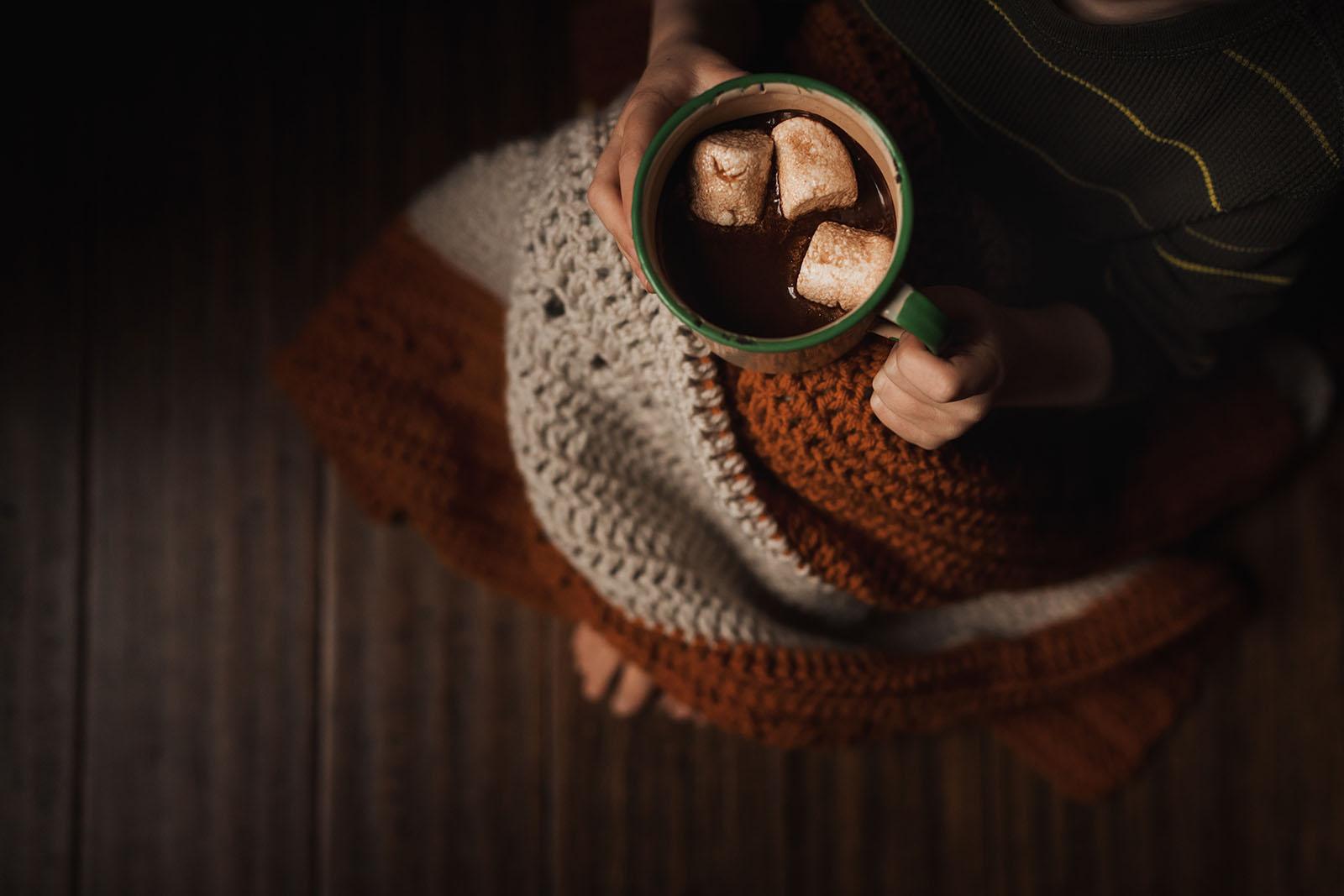 cup of hot chocolate by Meg Loeks