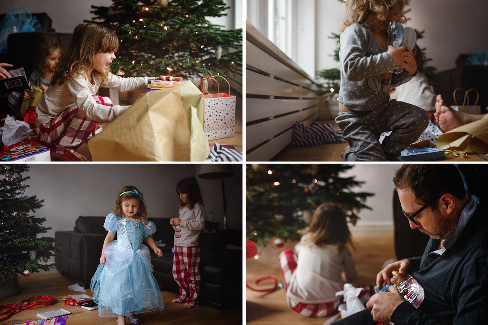 photos of kids opening Christmas presents by Anita Perminova