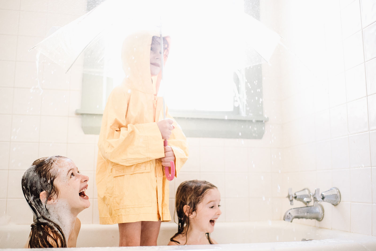 picture of kids in raincoats in the bathtub by Liza Hall - Clickin ...