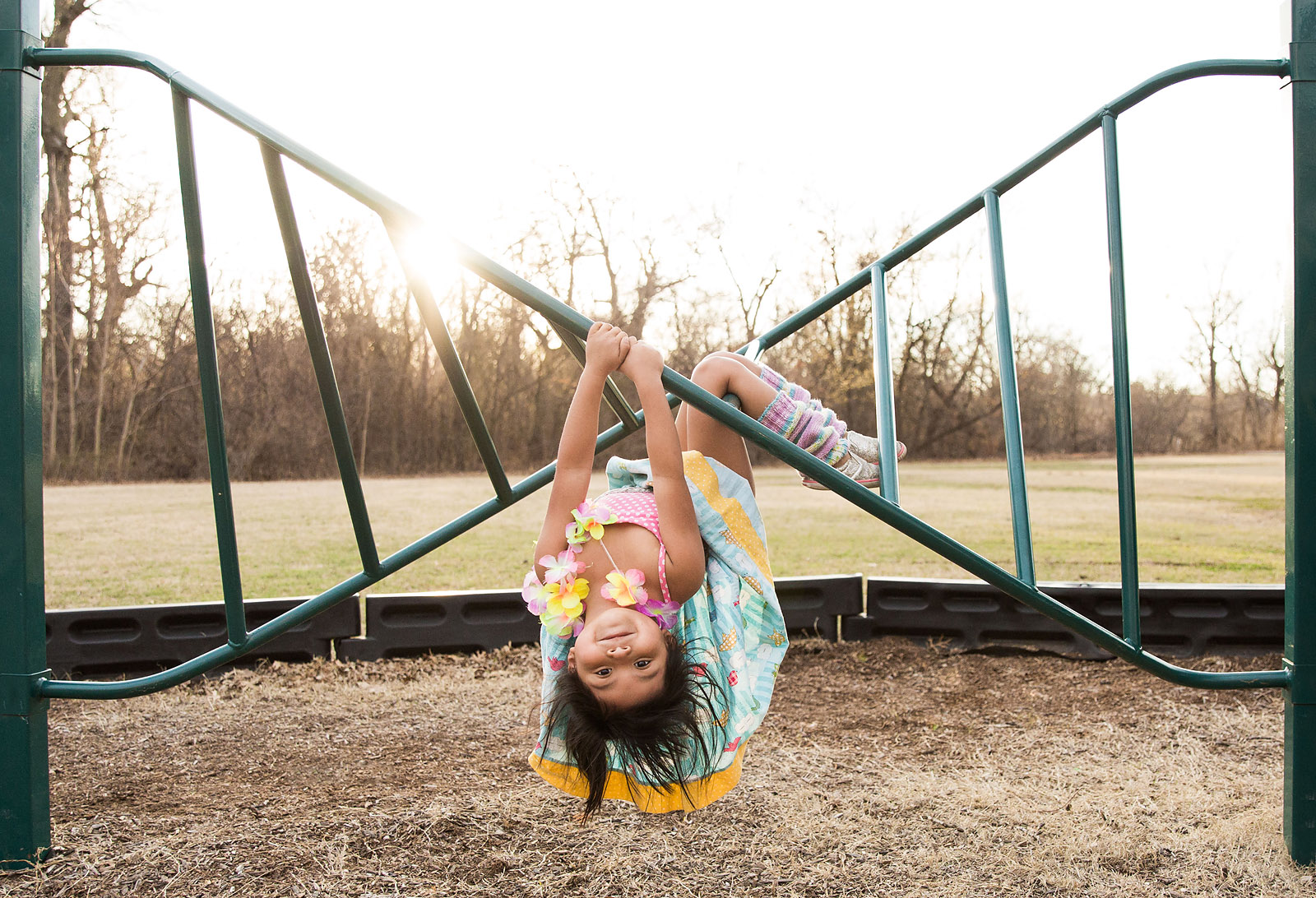 If your spring is anything like mine, the kids are dragging you to the park every afternoon to take advantage of the warmer weather. Because we are there so often, I've challenged myself to find new ways to capture my kids as they swing, balance, run and hang at their favorite place.