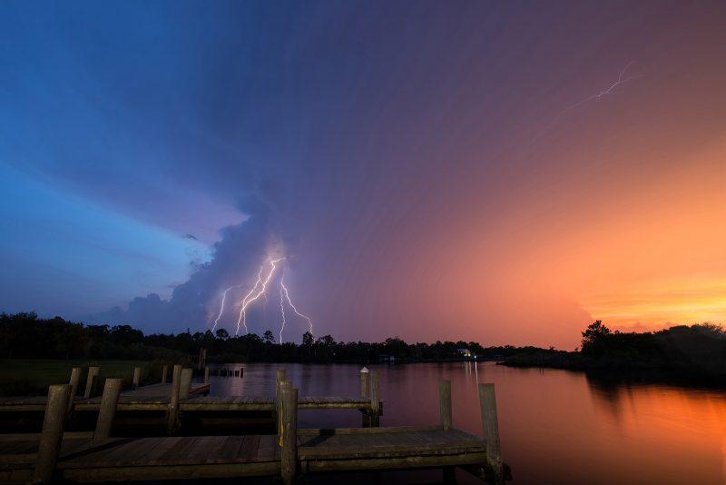Lightning on the Bayou by Jamie Bates