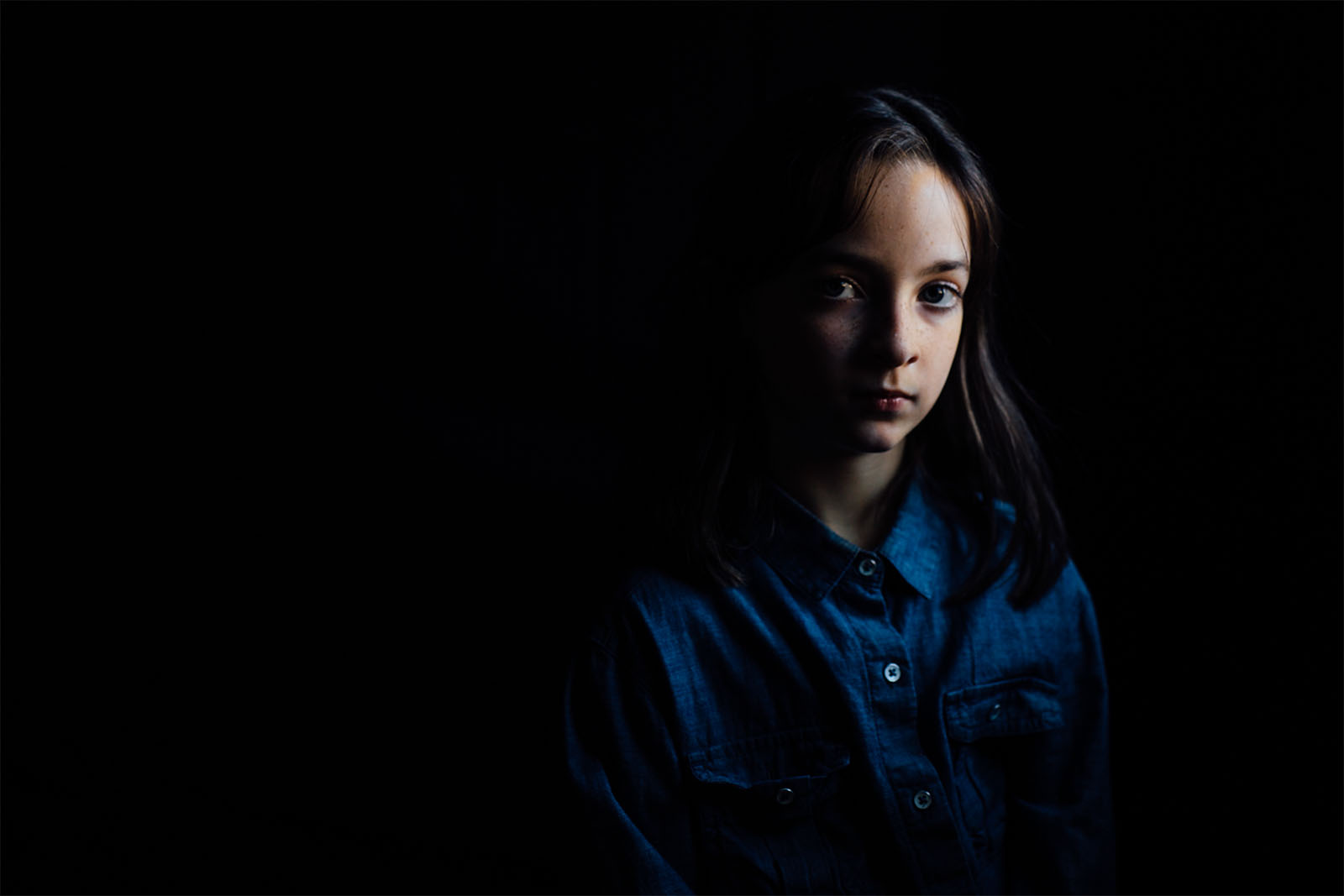 modern day photo with Rembrandt lighting by Lauren Penland 4