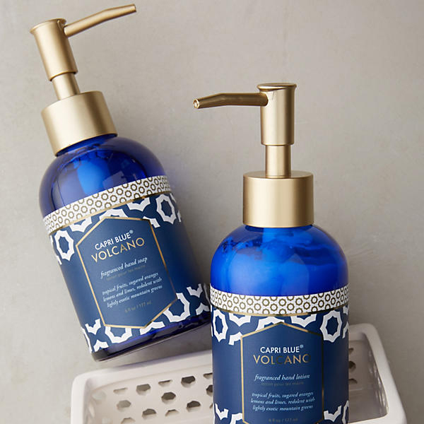 capri blue volcano hand soap and lotion