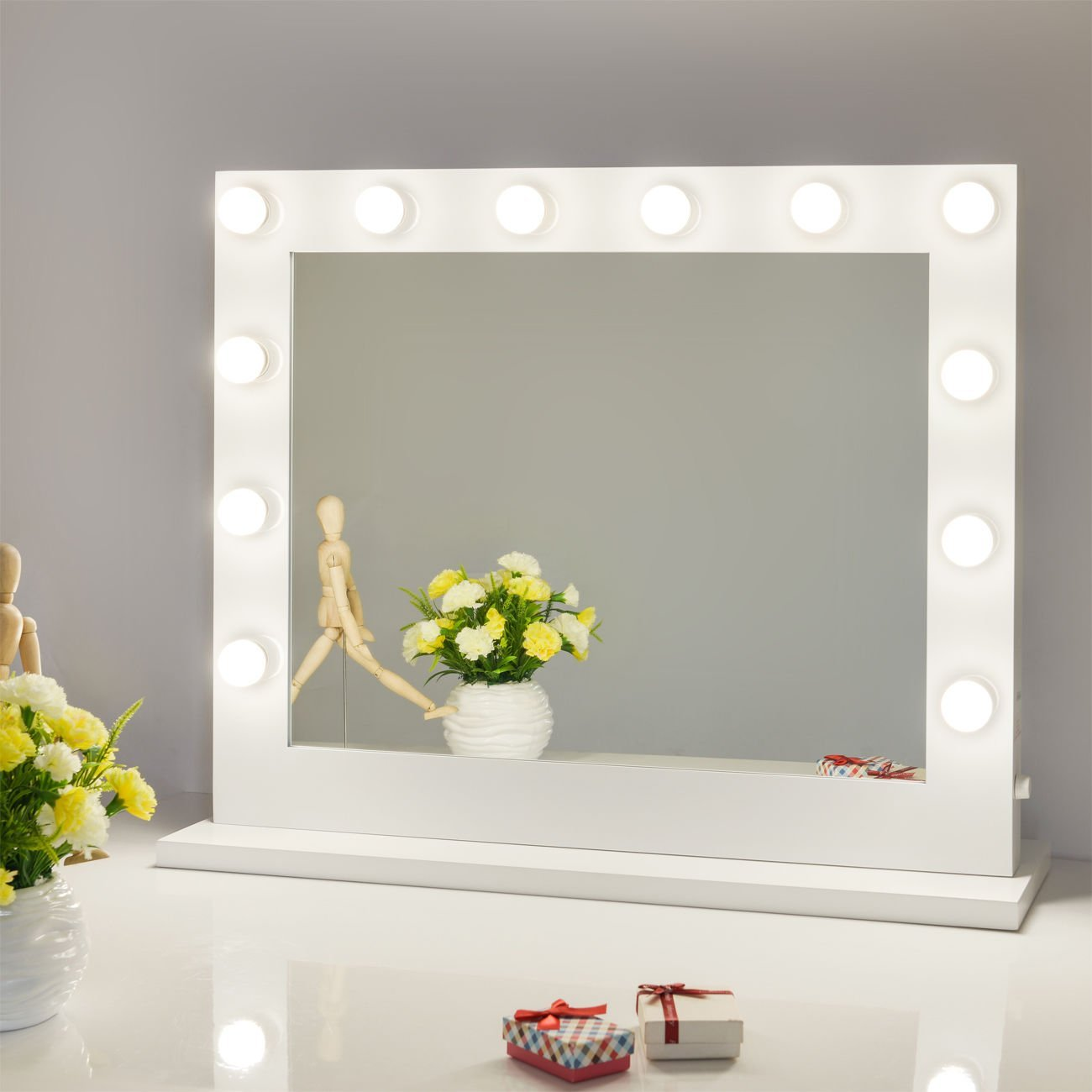 chende hollywood lighted makeup vanity mirror