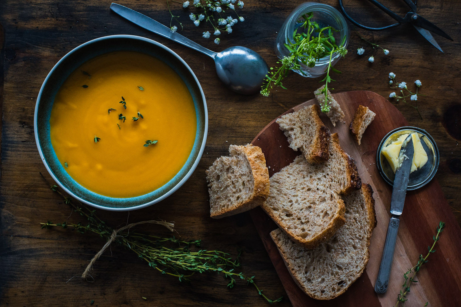 soup and bread by Susan Bahen