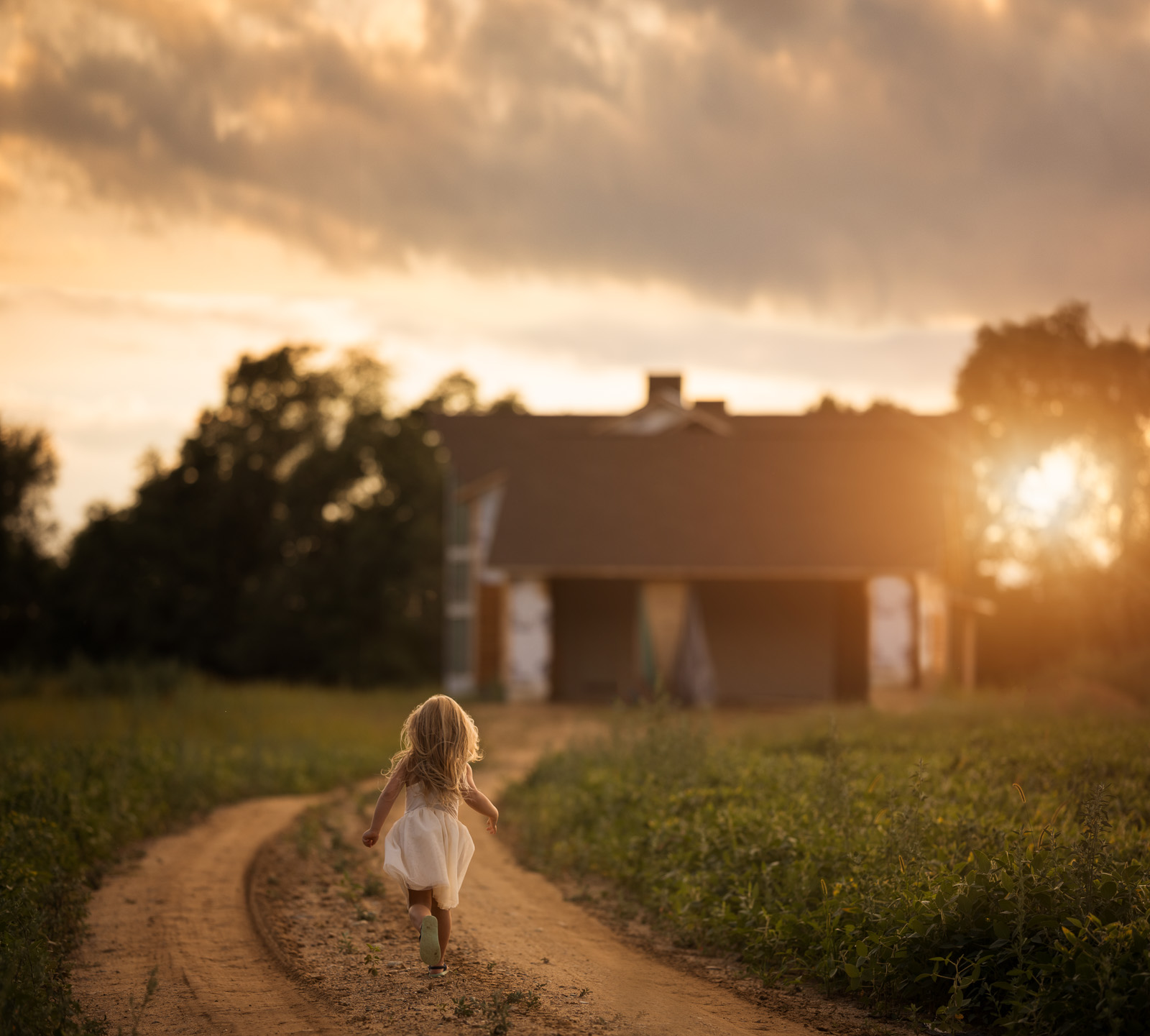 photo of girl running in the country by Danielle Awwad