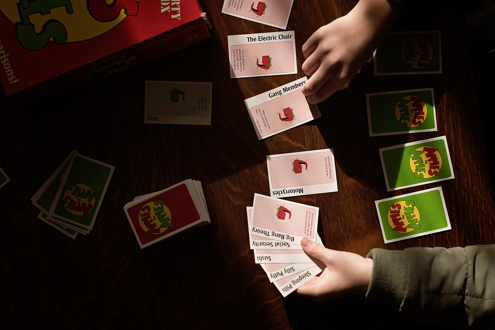 Apples to Apples game by Caroline Jensen
