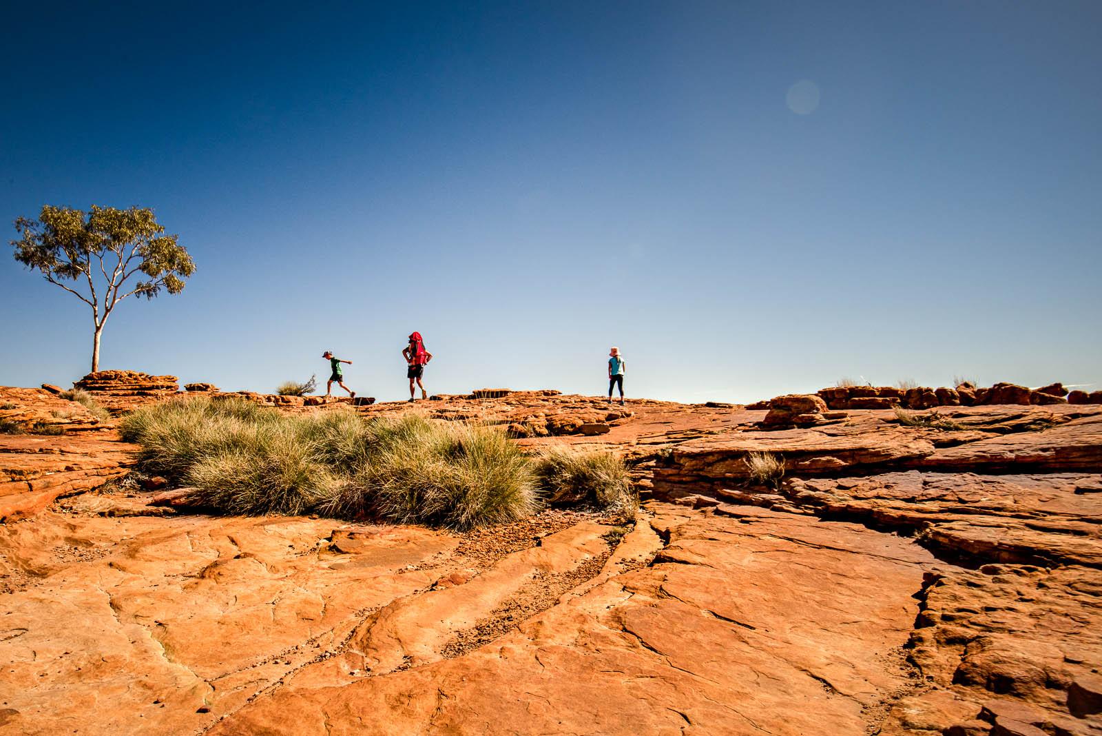 Rim Walk at Kings Canyon in the Australian Outback by Elle Walker