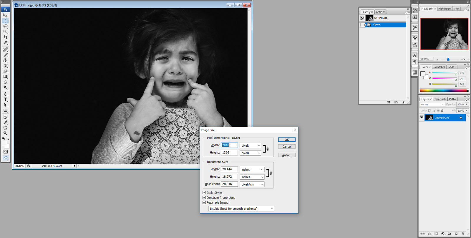 As much as you try, you can't always get it right in camera. This is how I fixed an unwanted center composition and converted my photo to black and white using Lightroom.