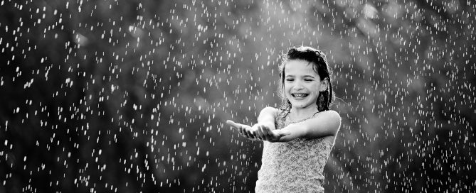 In my book, rain + client session=reschedule. However, just because it's raining doesn't mean you can't take pictures of either your own kids, your dog, your neighbor's kids, etc! Heck, you could probably still shoot your clients but I think most clients aren't going to want an entire session in the rain!