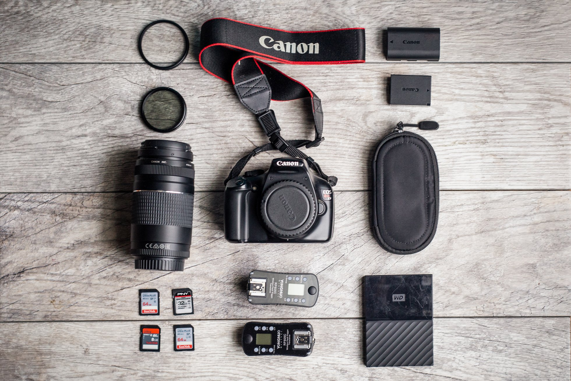 flat-lay-of-camera-gear-by-chanel-french