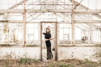 Atlanta-abandoned-greenhouse-fine-art-portrait-in-black-lace-skirt-by-Chanel-French