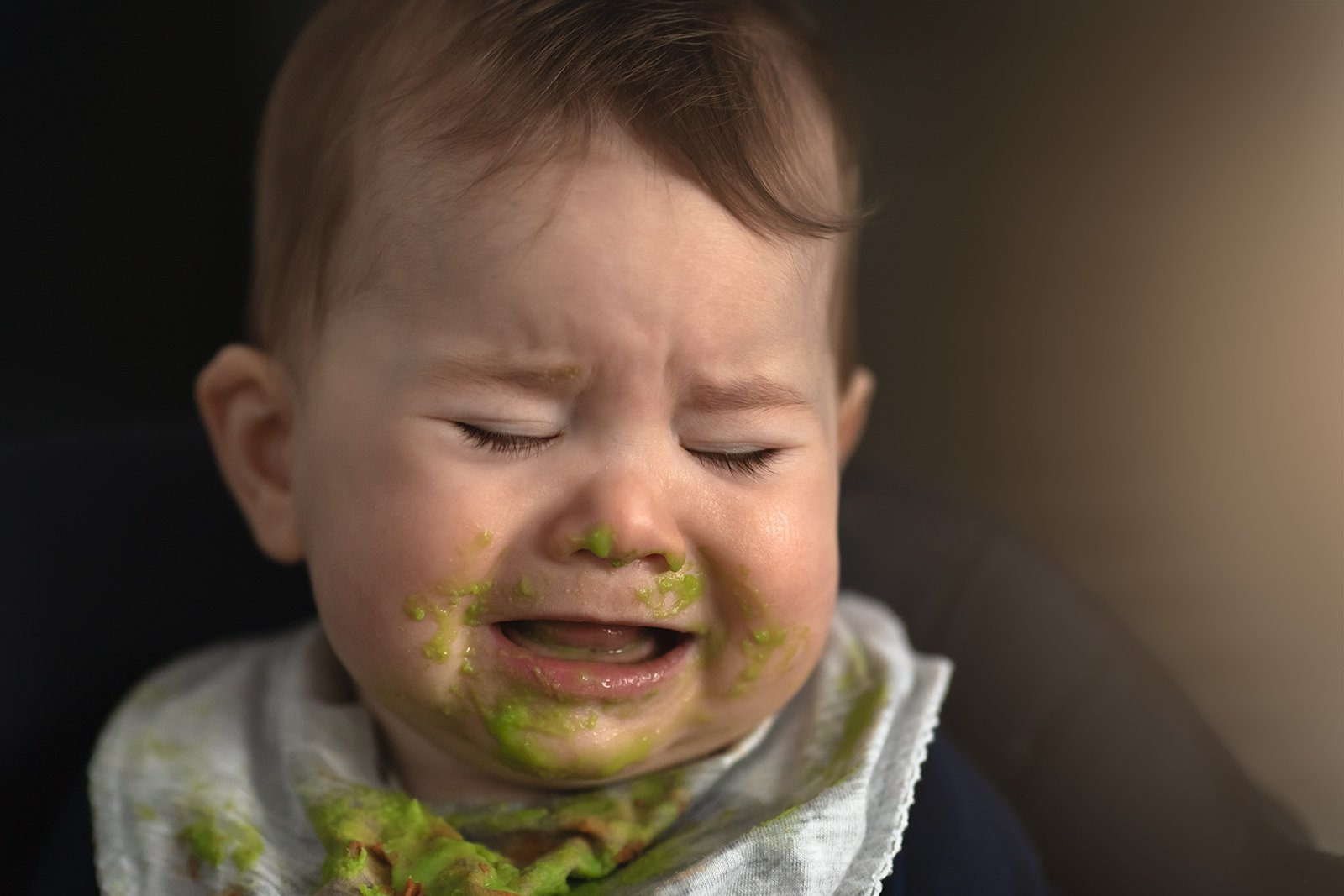 Erin Reinholtz_thisgirlnamederin clickin moms march forum photo contest baby with green food all over face