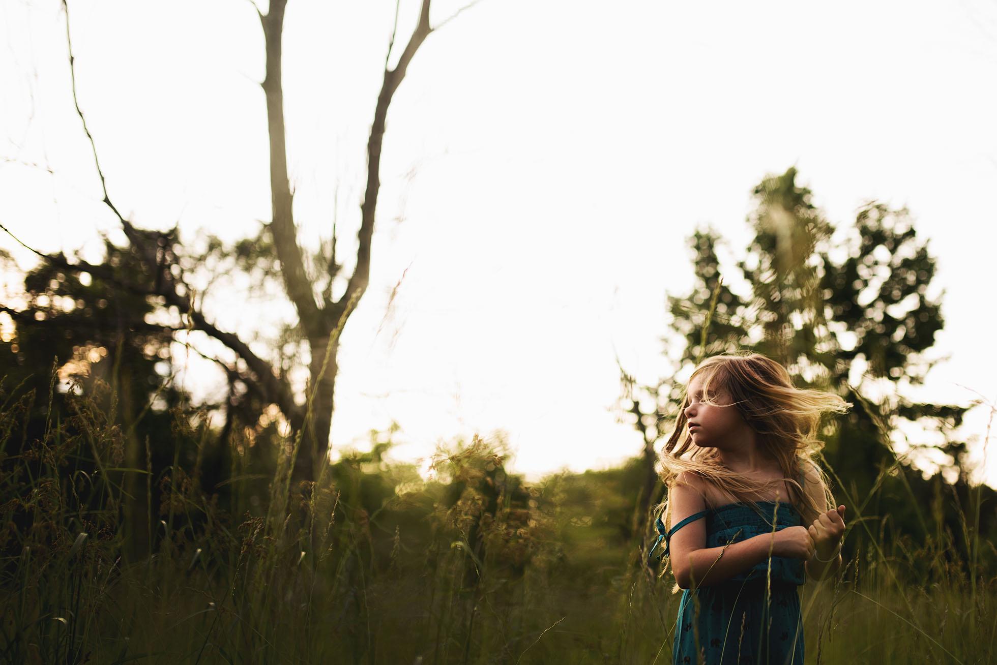 girl with hair blowing freezing motion kellie bieser