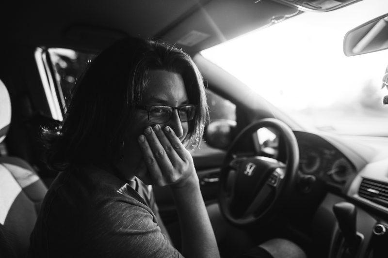 teenager in drivers seat of car kristina mccaleb