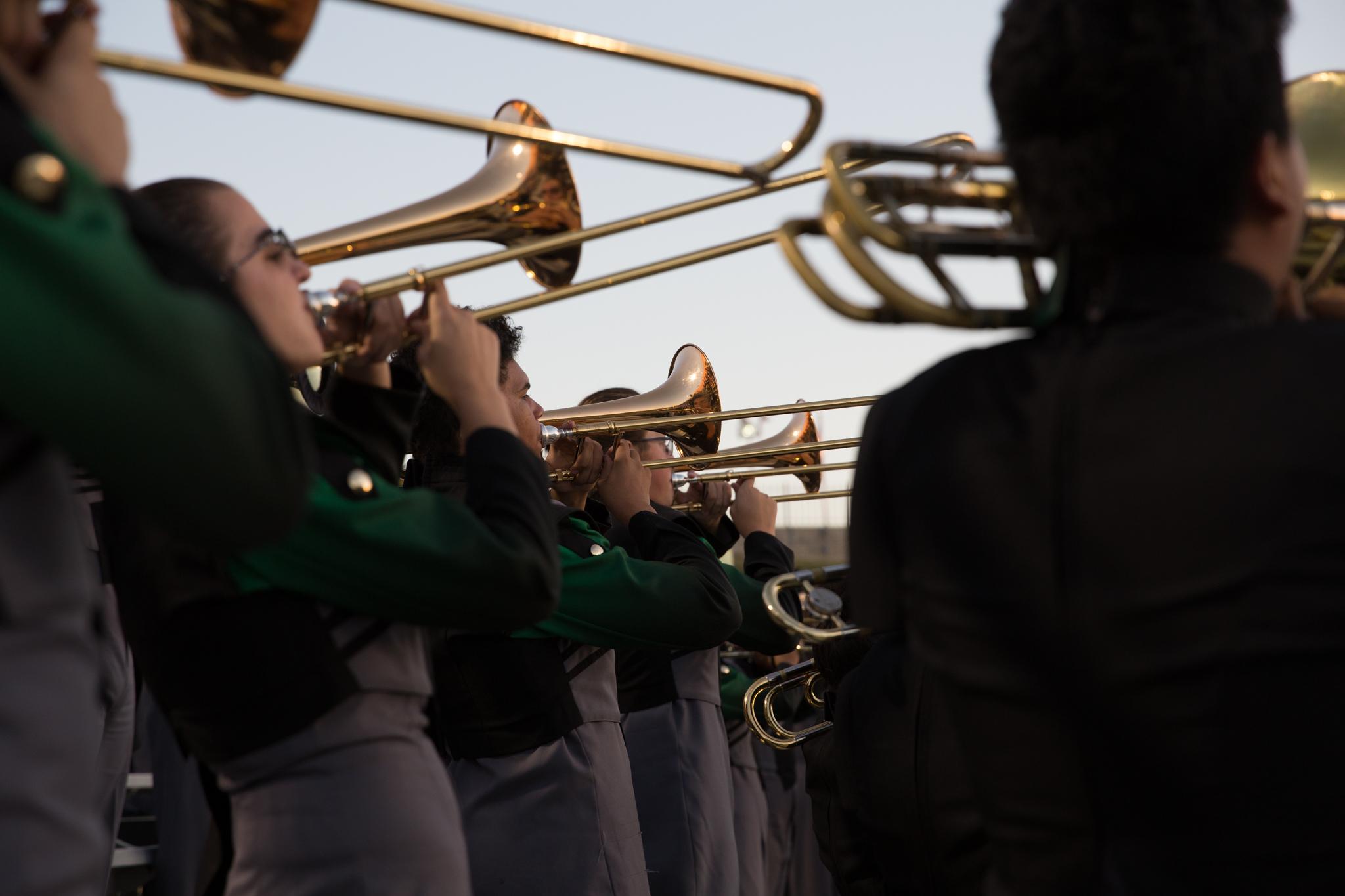 trombone players in school marching band kristina mccaleb
