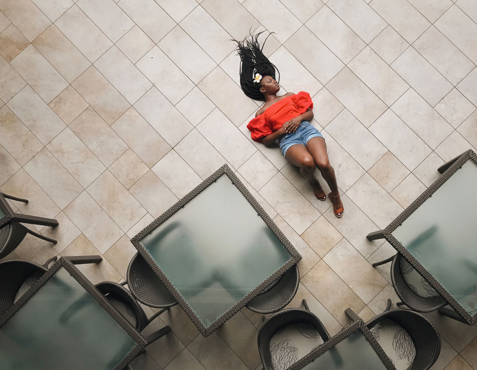 Mobile-Photo-Tips12-woman-on-tile-floor-from-above-chanel-french