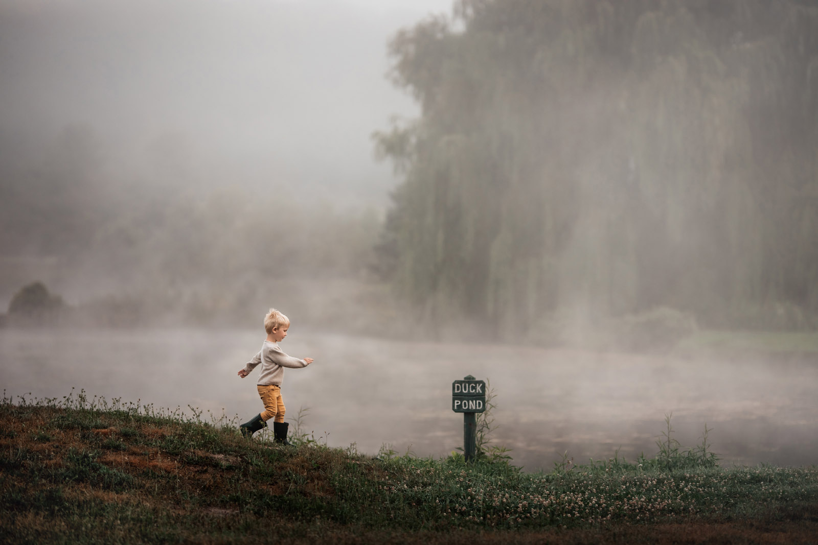 color theory young children playing in fog meg loeks