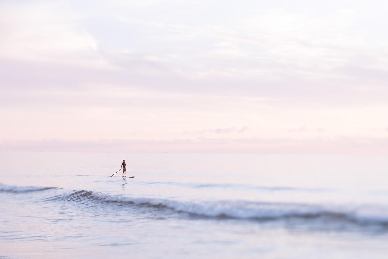 Lone Paddler at Sandbridge © Jennifer Carr Photography Virginia Beach