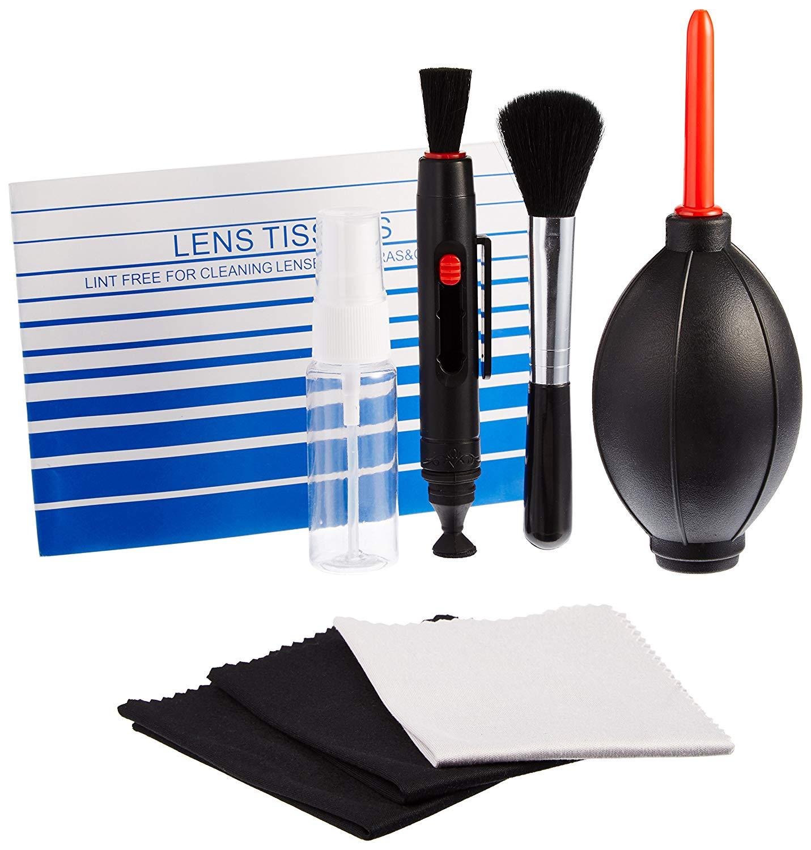 lens pen rocket blaster microfiber cloths camera cleaning kit