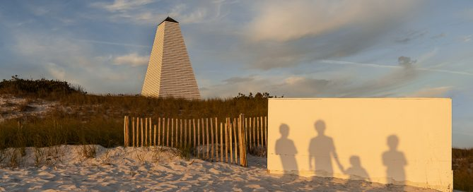 shadows of people on wall in sunset light megan arndt clickin moms member story