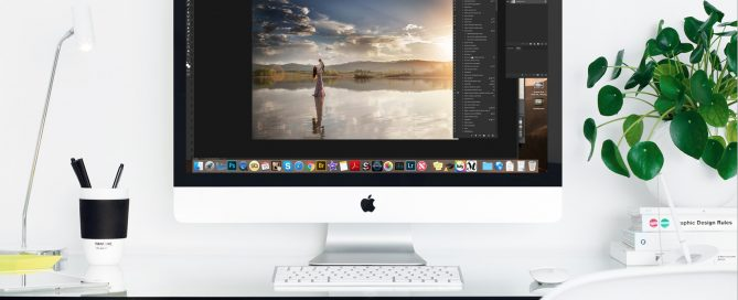 editing video on computer screen
