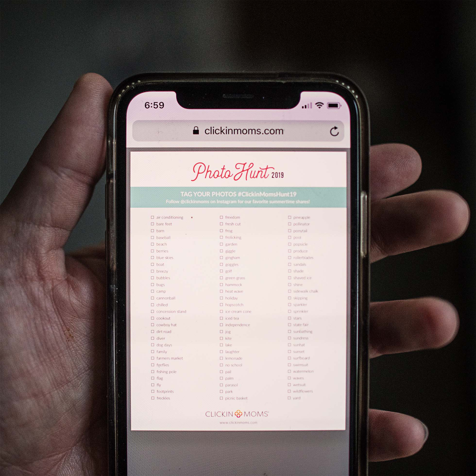 photo hunt list phone