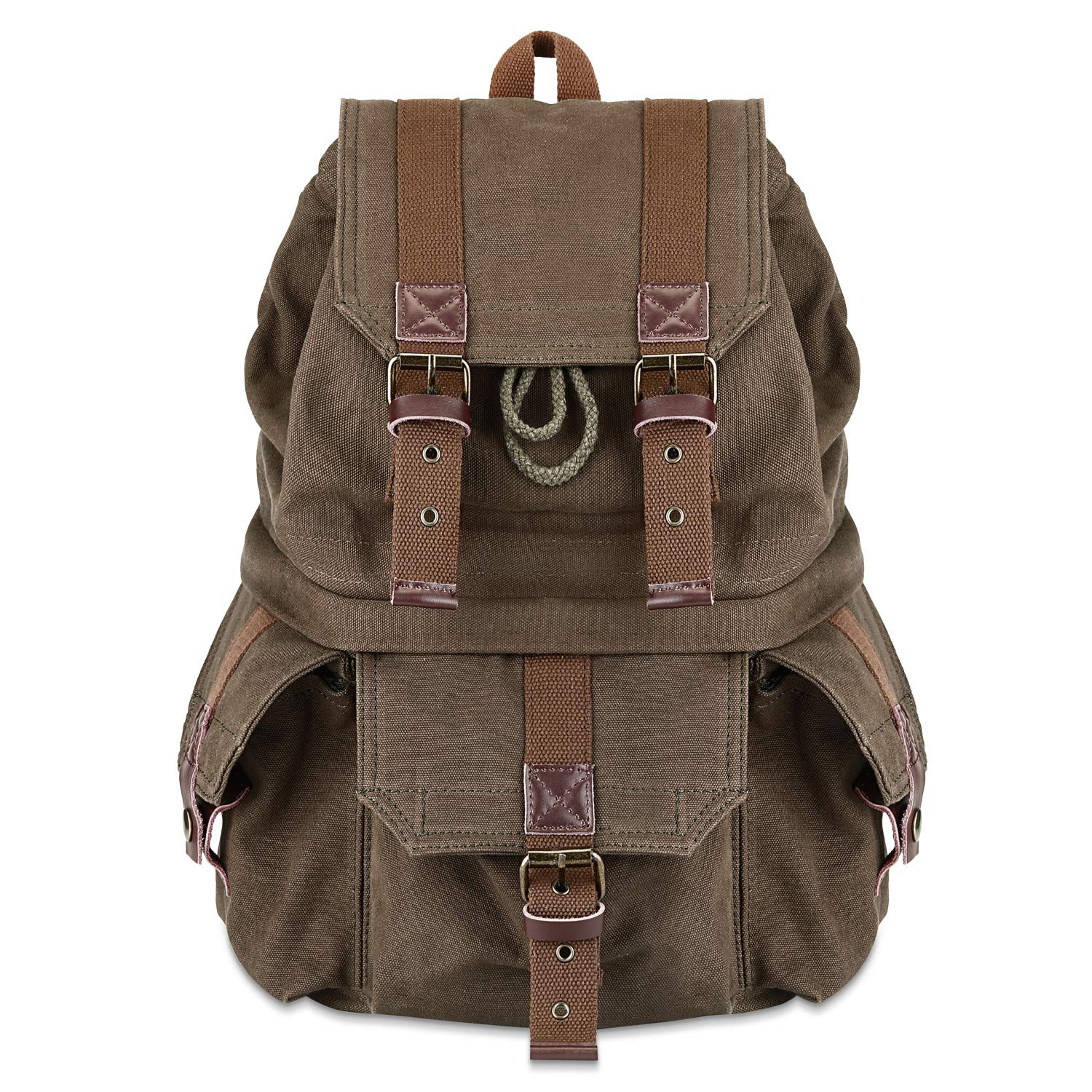 prime day kattee military style canvas dslr camera backpack