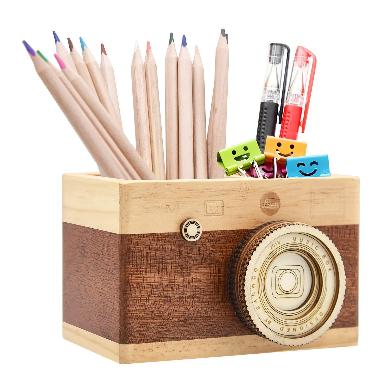 prime day wooden camera pencil holder