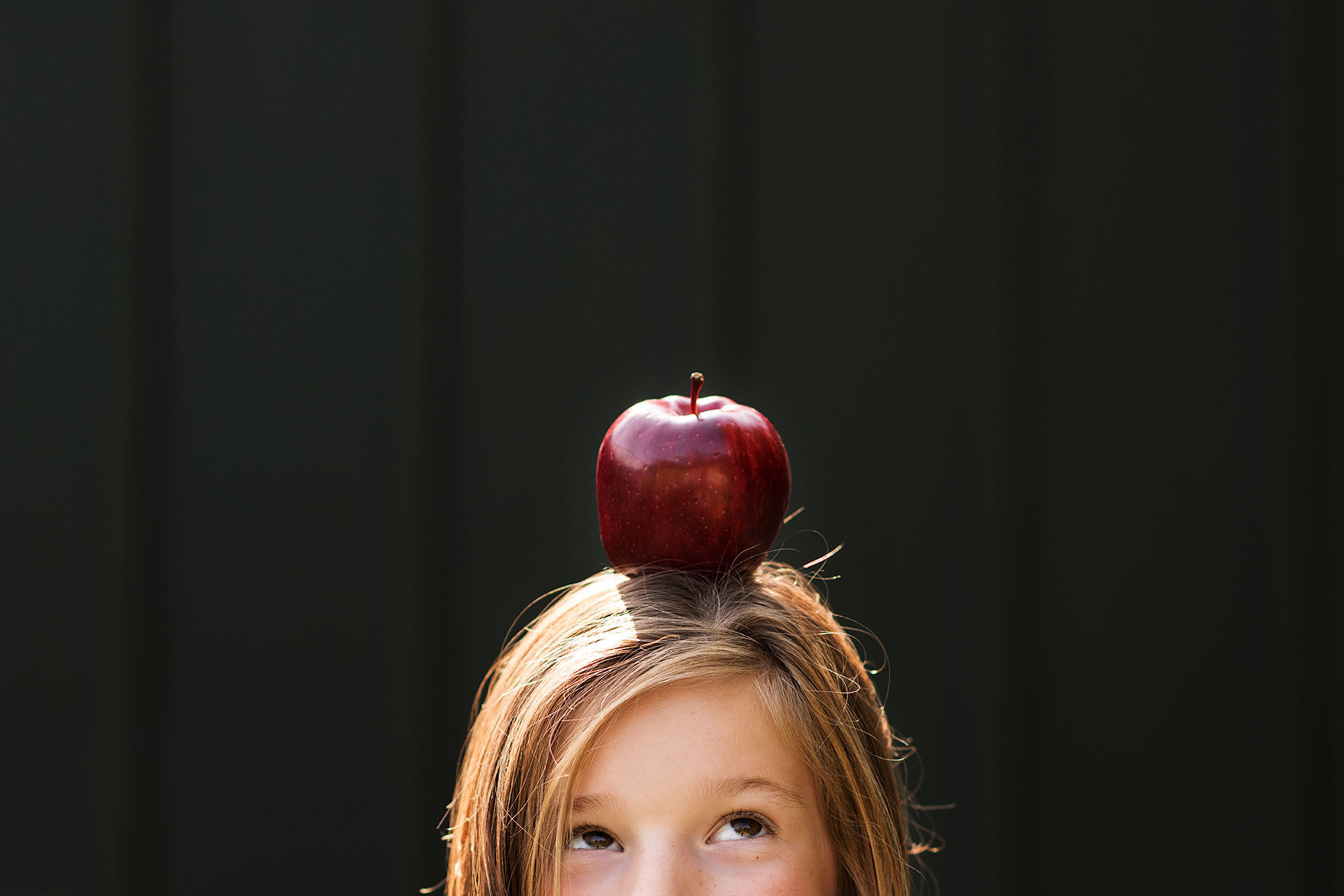 apple on head back to school photo kellie bieser cmblog