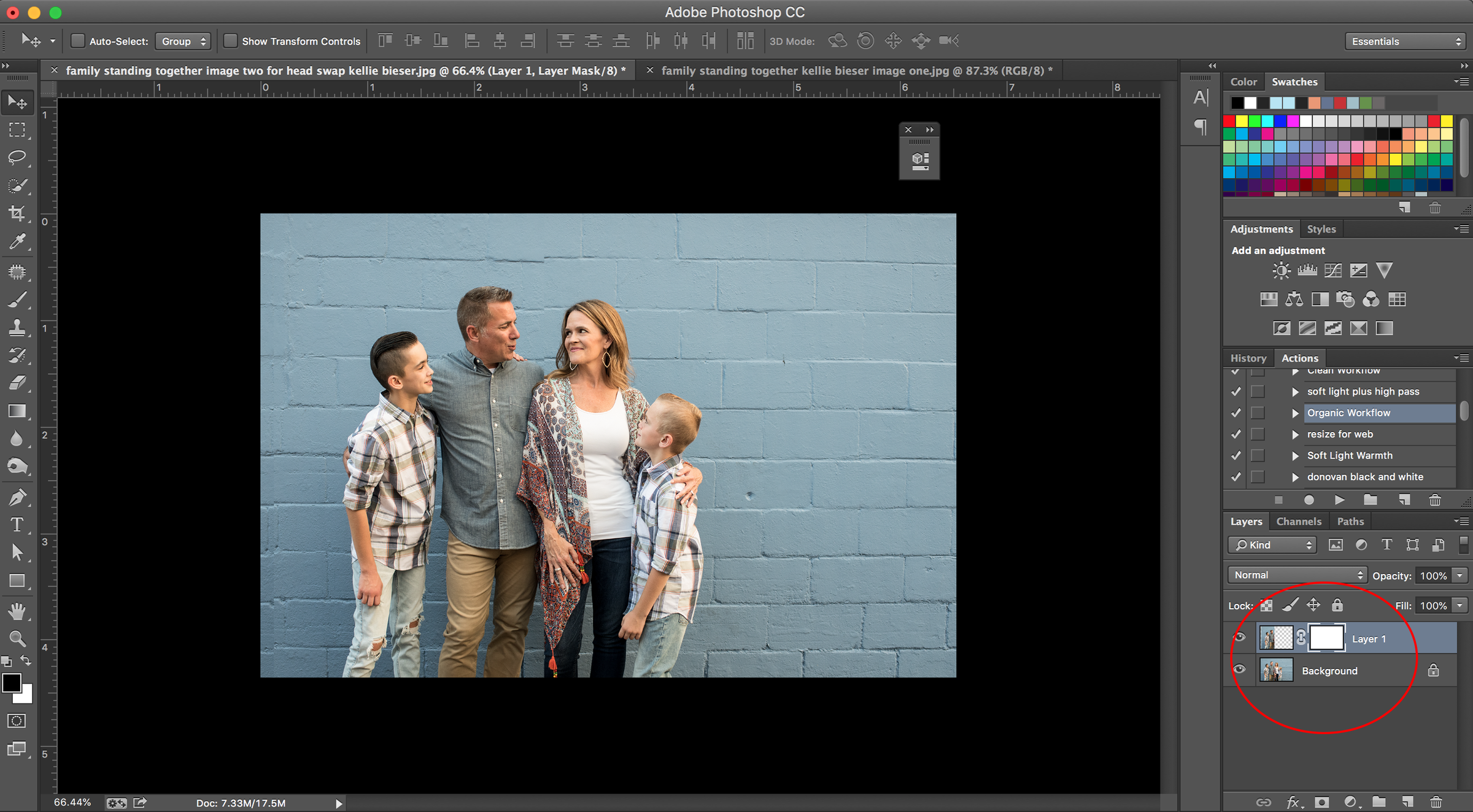 using layer masks for head swaps in photoshop kellie bieser